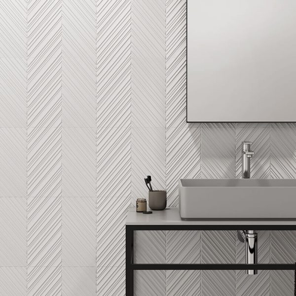 3d texture feature wall tuile bathroom shower toronto