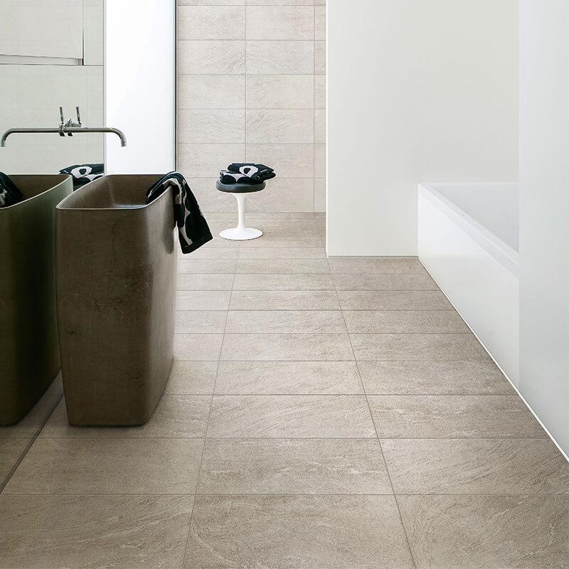 tuile pierre blanche wall tile floor bathroom shower ontario canada