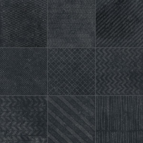 black accent wall tile pattern decor kitchen backsplash bathroom shower toronto ontario canada