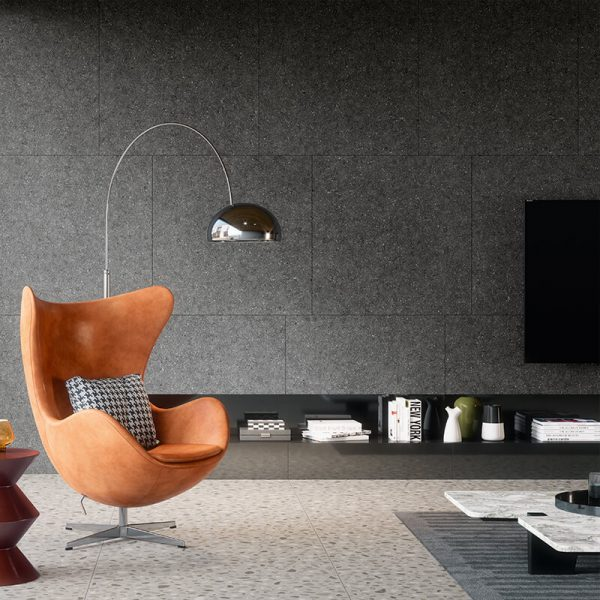 black stone wall tuile floor kitchen backsplash toronto