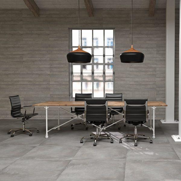 tuile beton gris accent wall tile floor kitchen backsplash toronto ontario