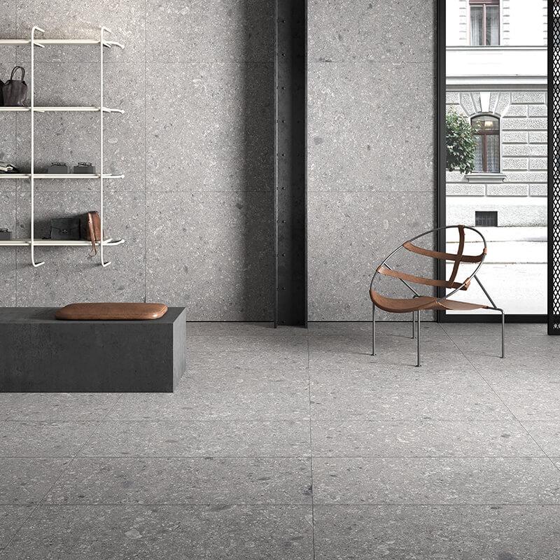 tuile pierre grise wall tile floor kitchen backsplash ontario