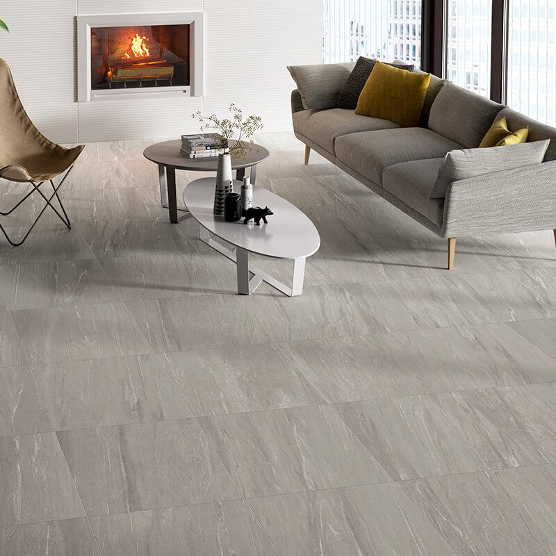 grey stone wall tuile floor kitchen shower toronto