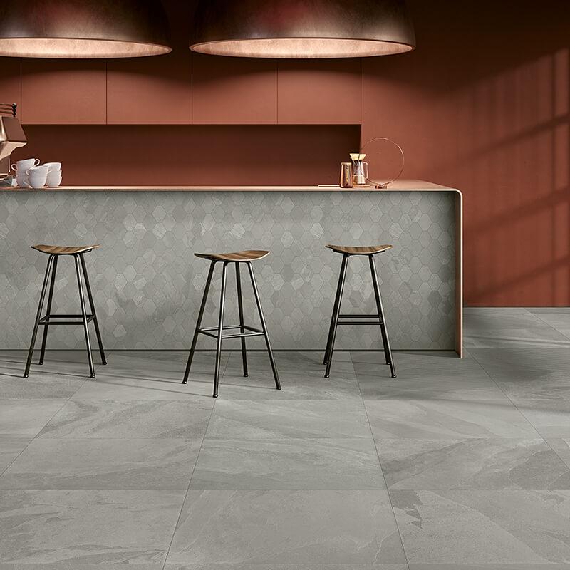 grey stone wall tile flooring kitchen backsplash italy canada