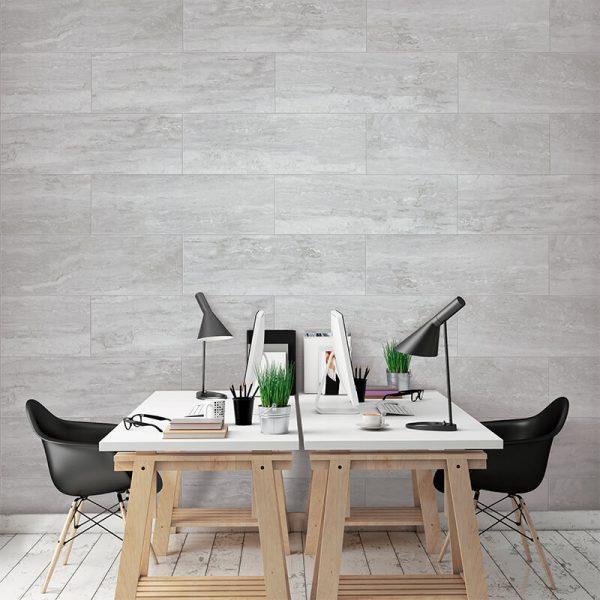 grey wall tile floor spanish stone toronto office