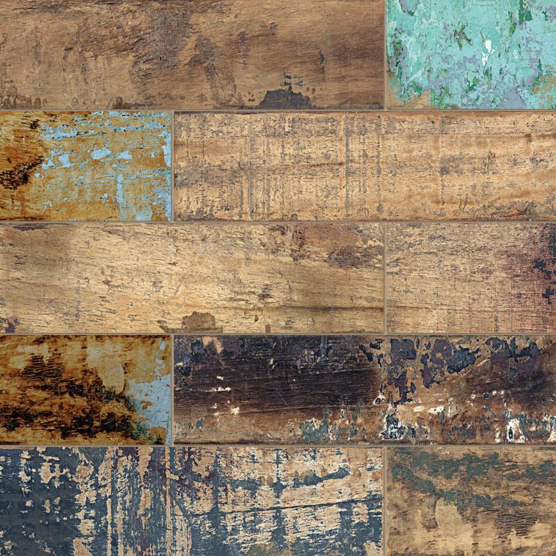 vintage rustic shabby chic wood wall tile floor ontario bathroom shower canada