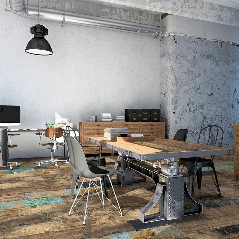 vintage tuile bois rustique shabby chic wood wall tile floor ontario kitchen backsplash canada