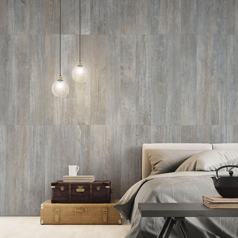 rustic grey wood accent wall kitchen bathroom italy canada