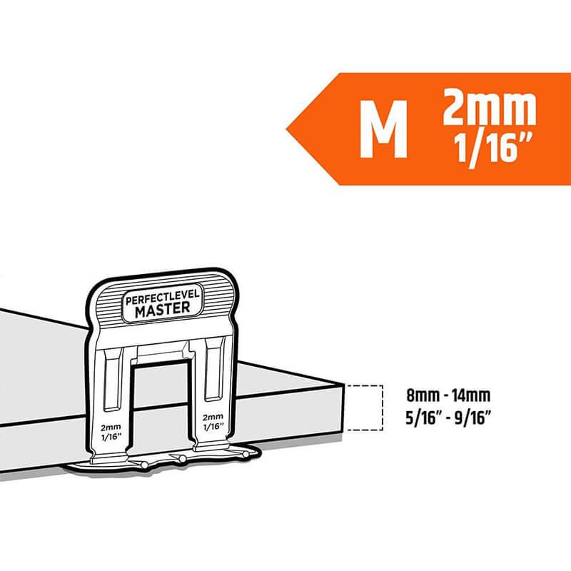 t lock clip 2mm medium tile levelling