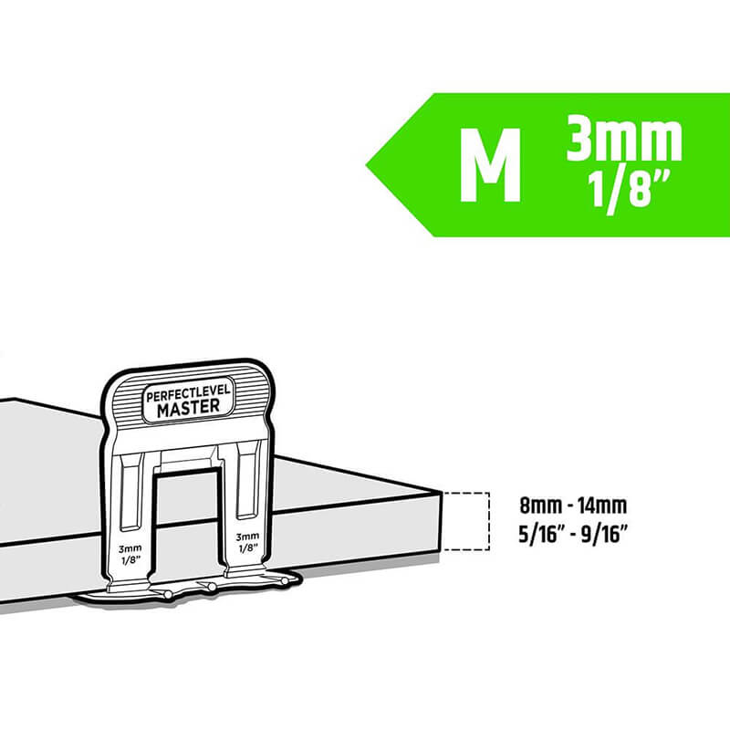 t lock clip 3mm medium tile levelling