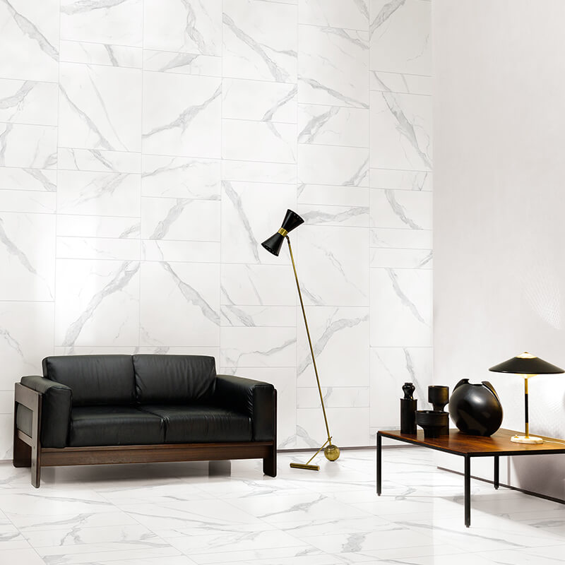 tuile pierre marbre blanc
