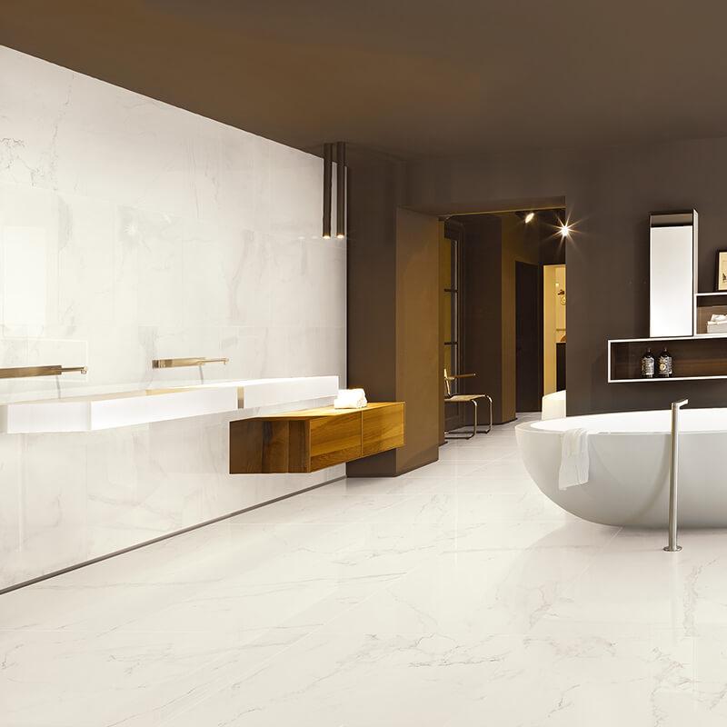 white marble stone wall tile floor bathroom shower toronto